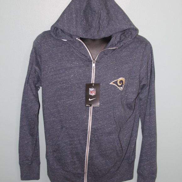 finest selection a4b47 62bd7 Nike NFL LA Rams Zip-Up Hoodie Womens size Large NWT